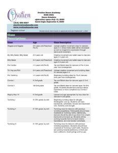 20-21 Class Descriptions page 1